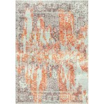 Japonica Orange / Pharlap Grey Silken Modern 9x9 Square Rug