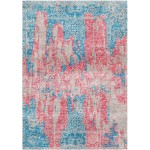 Steel Blue / Chestnut Rose Silken Modern 8x10 Rug