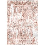 Leather Brown / Athen Ivory Silken Modern 8x10 Rug