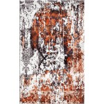 Brown Rust / Cocoa Brown Silken Modern 8x10 Rug