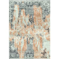 Willow Brook Sage / Santa Fe Rust Silken Modern 8x10 Rug