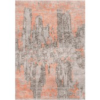 Zorba Brown / Antique Brass Silken Modern 8x10 Rug