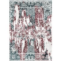 Outer Space Gray / Russett Brown Silken Modern 8x10 Rug