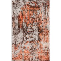 Copperfield Rust / Sambuca Charcoal Silken Modern 8x10 Rug