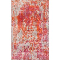 Mojo Red / Orchid Silken Modern 8x10 Rug
